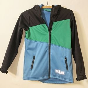 Crivit Boys Blue & Green Jacket 8-10 Years